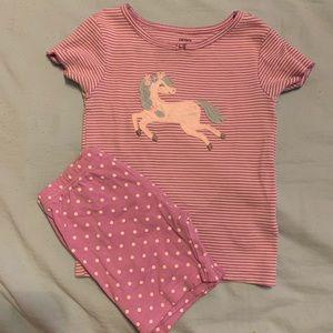 SALE! 5 for $20! Girls carters pajama set sz 5t